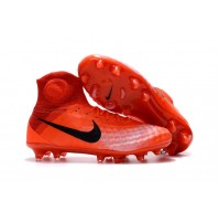 Chuteira Nike Magista Obra II FG Red/Black Bright
