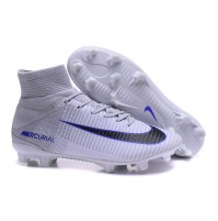 Chuteira Nike Mercurial Superfly V White / Blue