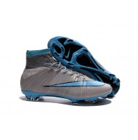 Chuteira Nike Mercurial X Superfly Grey / Blue
