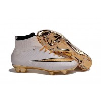 Chuteira Nike Mercurial X Superfly White / Gold