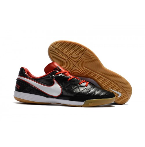 Chuteira Nike Indoor Tiempo X Black/White/Red