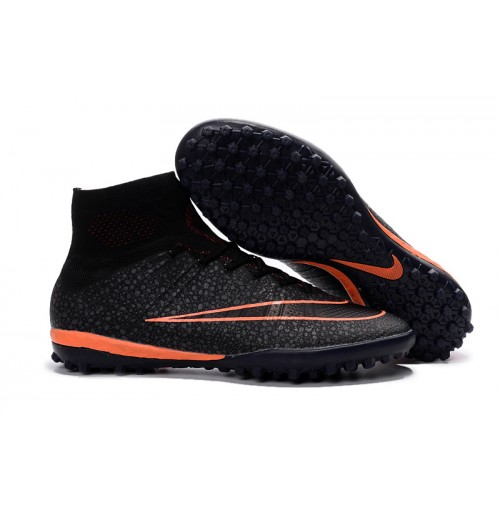 Chuteira Nike Society  Mercurial  IX Black / Orange